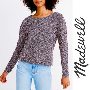NWT Madewell • Multi-Color Sweater Black Pink Blue